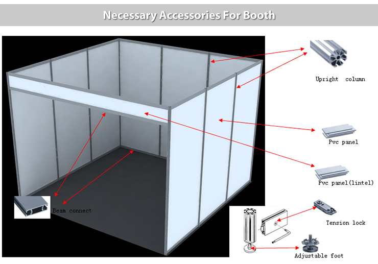 Exhibition Booth Materials : Firm materials diy trade show booth for cheap leather