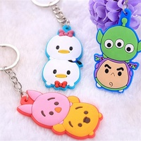 Wholesale high quality custom made soft pvc key chain rubber 3d cartoon characters keychains