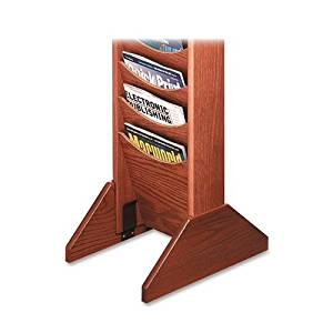 Buddy Products Single Wood Base for Literature Display Racks, 0.75 x 5.75 x 14 Inches, Medium Oak (0617-11)