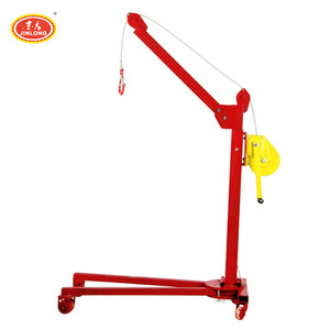 low profile small excel Folding shop engine crane Manual power lift crane