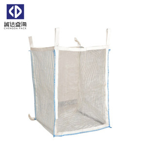 plastic PP Big Bag for Firewood Packing Potato Ventilated PP Big Bag mesh bag