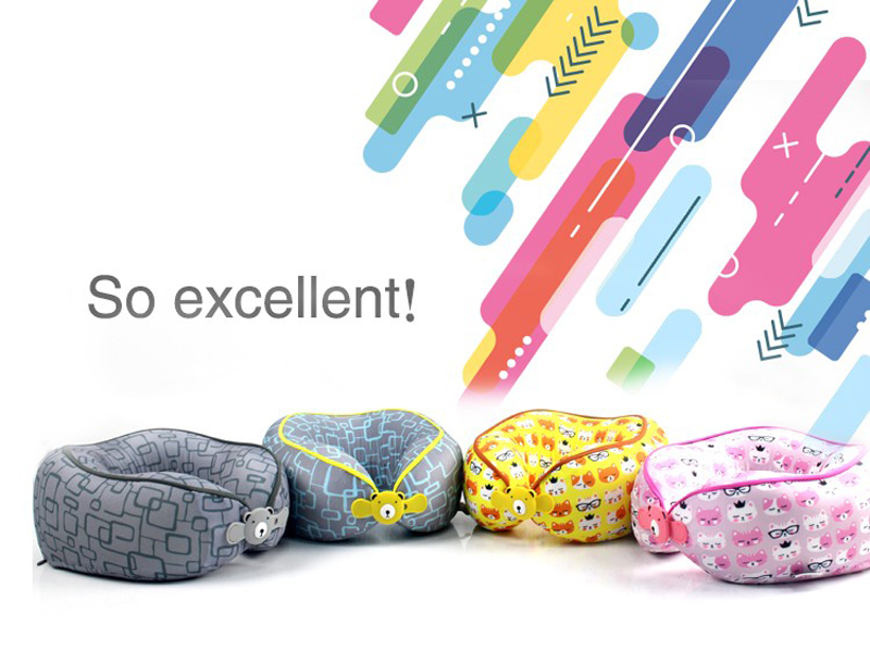 Wholesale Memory Foam Kids Neck Pillow Breathable Organic Children Pillow Head Support Memory Foam Baby Pillow