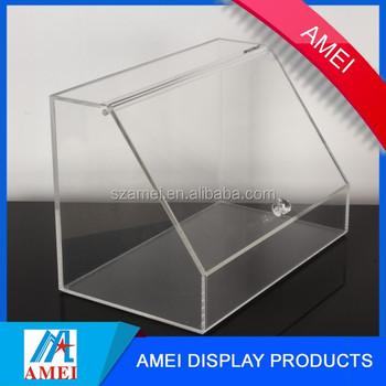 Custom Transparent Acrylic Display Box Plexiglass Clear Acrylic