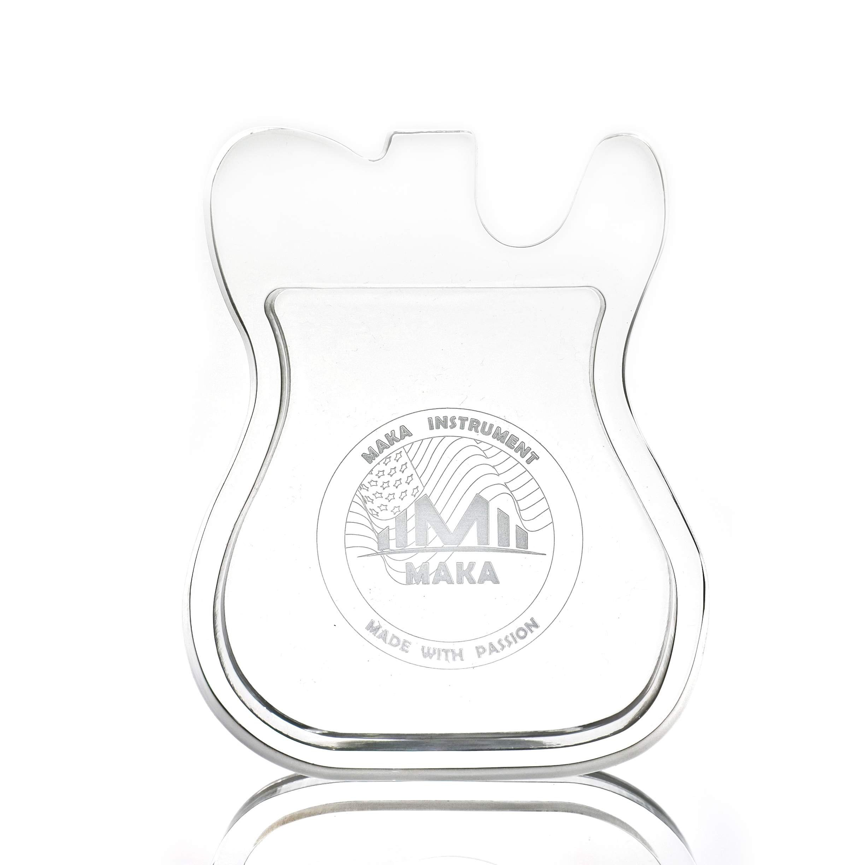 9da6e1fb69d Get Quotations · MAKA Acrylic Guitar Pick Holder Case, Premium Quality  Clear Plexiglass, T Type Guitar Shaped