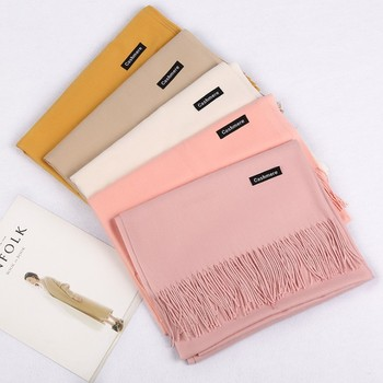 Hot Sale Wholesale Multicolor Women Winter Warm Wool Scarf Long Shawl Cashmere Scarf With Tassel
