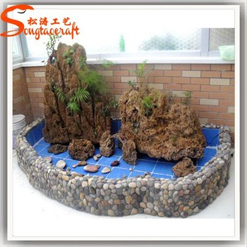 indoor artificial mini small decorative waterfall stone fountains with pump
