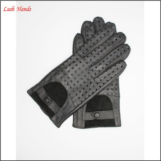 Men's unlined driving leather gloves in Europe