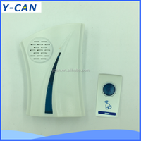YK-8301 AC DC Remoter control Wireless electric doorbell with 32 melodys for the deaf with LED flash