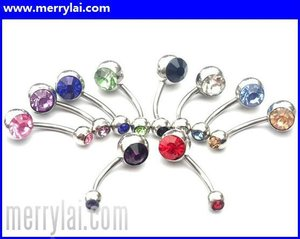 Wholesale lots mixed 316L UV Barbell piercing button body jewelry (ML-12-YO0921-002)