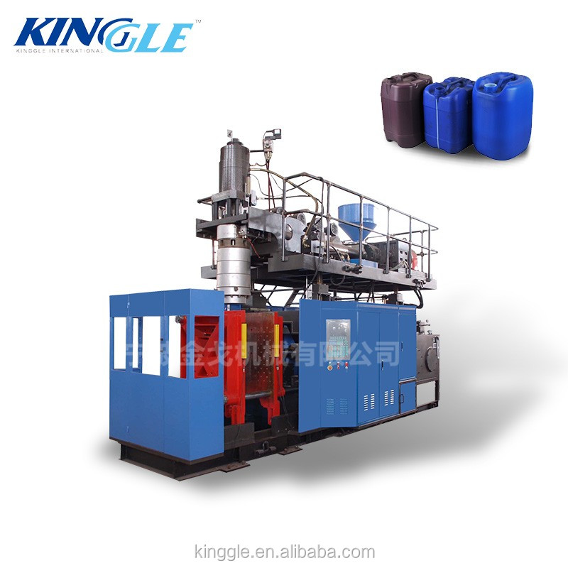 30L hdpe blue jerry can extrusion blow moulding machine / chemical drum making machine
