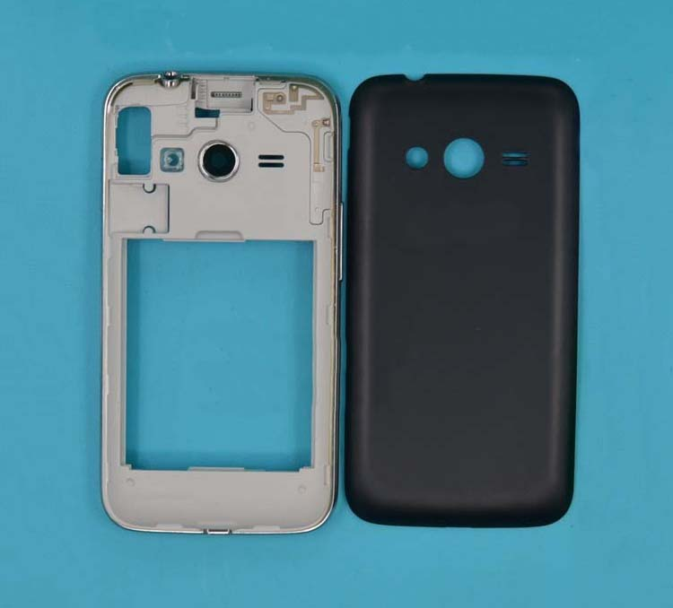 Black/ White Middle Frame Bezel + Back Cover + Side Button For Samsung Galaxy Ace 4 LTE G313 Phone Case Chassis
