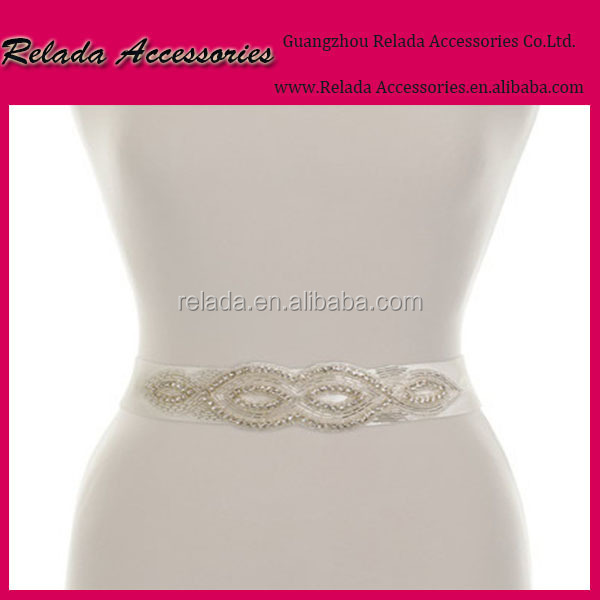 Wholesale Factory Gorgeous bridal applique Sash belts Beaded Crystals and Sequins Wedding Sash Bridal Belt in wholesale price