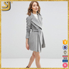 2016 Fashion Coats Model Skater Coat With Oversized Collar and Self Belt