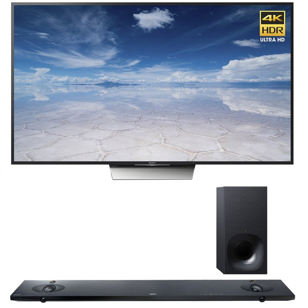 Sony XBR-55X850D 55-Inch 4K UHD TV with Sony HTNT5 Sound Bar with Hi-Res Audio and Wireless Streaming