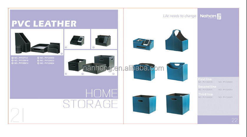 NAHAM Good Quality Portable Leather Office Magazine Holder