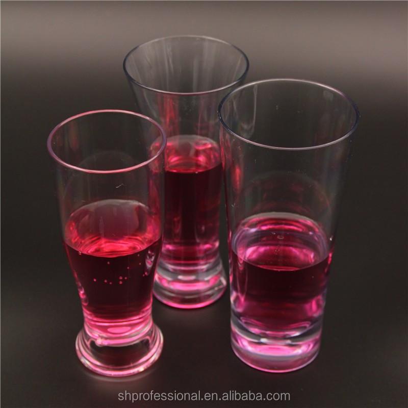 כוסות שתיית משקפיים אקריליק נקה פלסטיק