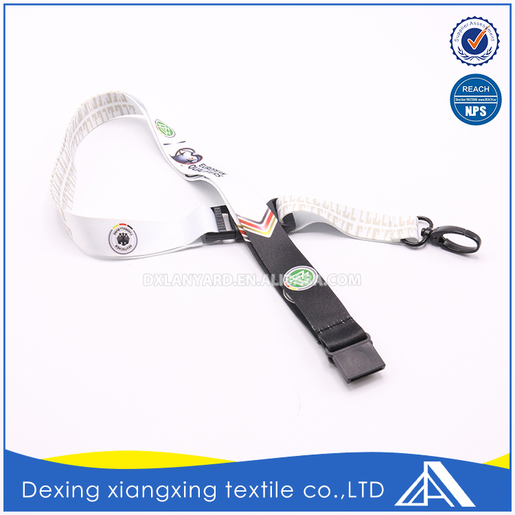 Promotional sublimation ribbon neck lanyard blank for key