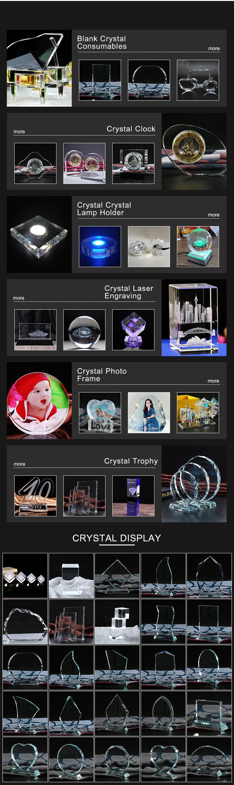 Atacado em forma de coração 3d gravura do laser de cristal iceberg amor para Personalizado foto moldura de cristal Presentes de casamento