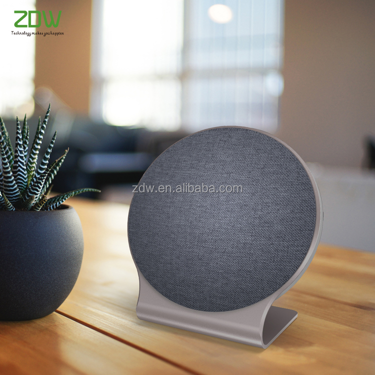 New products 2017 OEM High quality 16w bluetooth wireless fabric speaker with aluminum stand