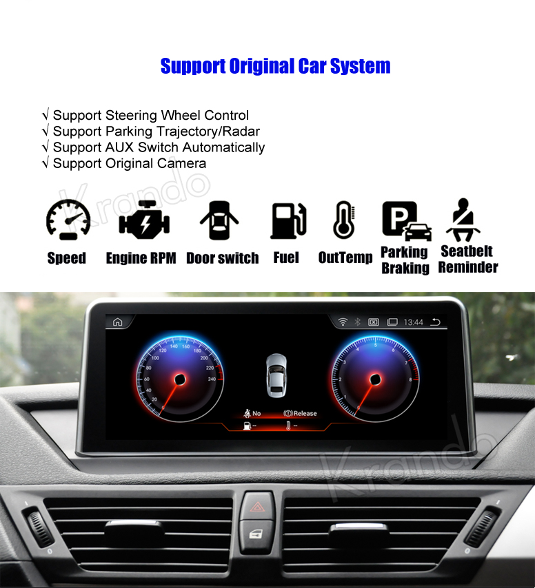 Krando 10.25'' android car radio multimedia for bmw X1 F84 2009-2015 Big screen navigation with gps system