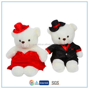 Love forever a couple of plush bear doll for Valentine