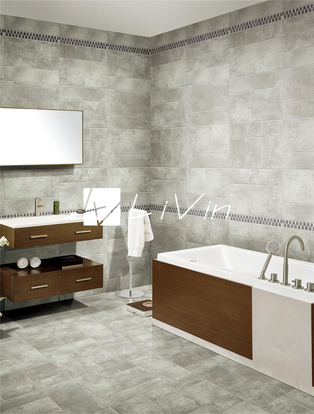 Foshan Famous Brand- Bathroom Tile Design Cement Tile Floor Tile ...