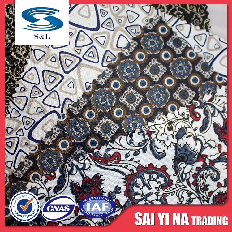 HB957 Shrink-Resistant Women suit Fabric 100% Polyester digital printing cloth fabric