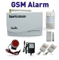 GSM sender alarm for residential safety and properties ,4 wired zones and 6 wireless zones and lcd display