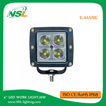 4inch 16W CREEE Flood Beam LED WORK LIGHT CAR TRUCK Flush Mount off road Guangzhou auto led Light