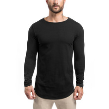 Custom new fashion men's casual slim fit o neck long sleeve t shirt , mens t shirt , blank solid long sleeve t-shirts