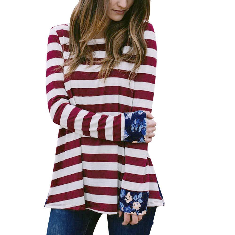 0e9b8ecb41a7e Cheap Womens Striped Long Sleeve T Shirt