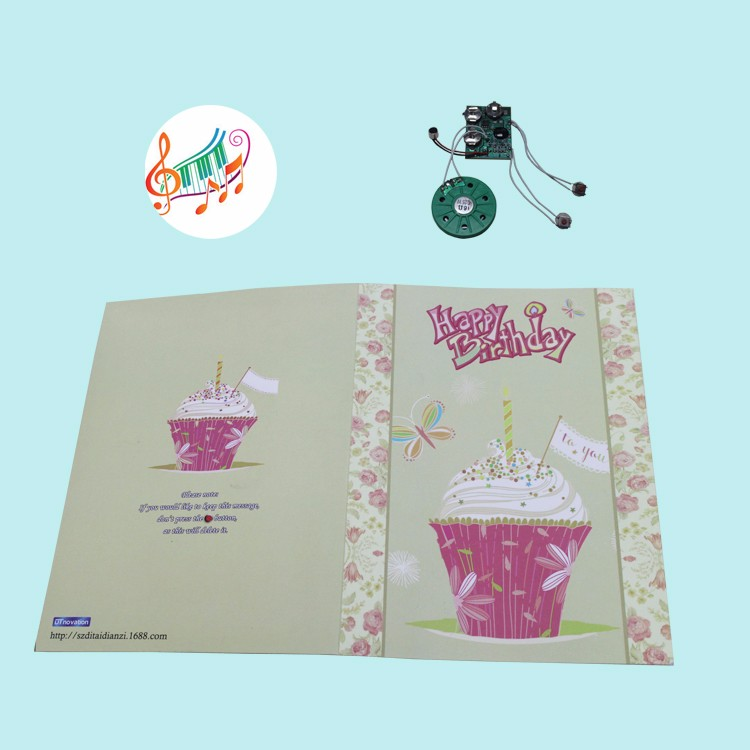 Customized programmable voice recording Music Greeting Card Factory bulk