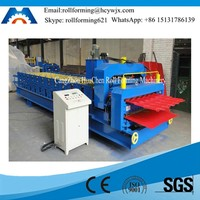 Color Coated Roofing Profile Steel Sheet Tile Roll Forming Machine Manufacturer