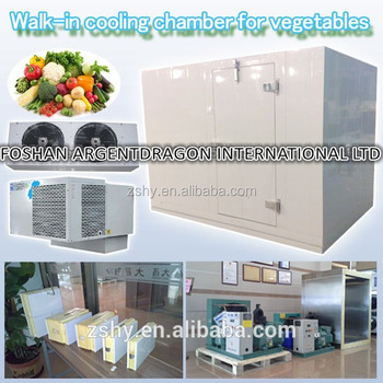 Walk-in cooling chamber for vegetables