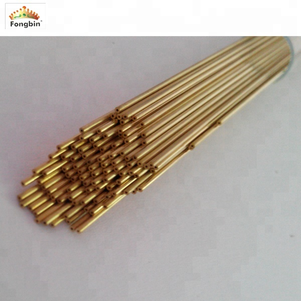 10 Pieces of EDM Drilling Brass Electrode Tube OD 0.3mm x 300mm