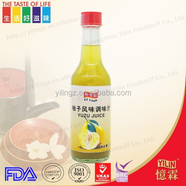 BRC150ml glass bottle packing hot sale tasty yuzu juice from taiwanese factory with low price
