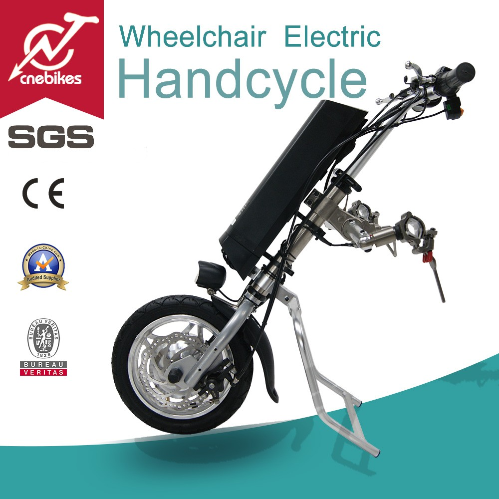 2017 new type hot sale attachable 36v 350w electric wheelchair handcycle