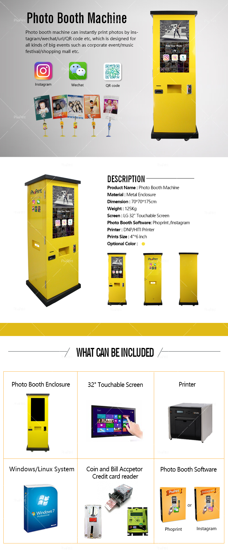 Video Camera Custom-design Wedding Party Event Photo Booth Coin Operated Vending Machine
