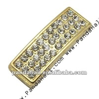 Alloy Crystal Diamond Pave Jewelry Connectors (ALRI-34X13-1)