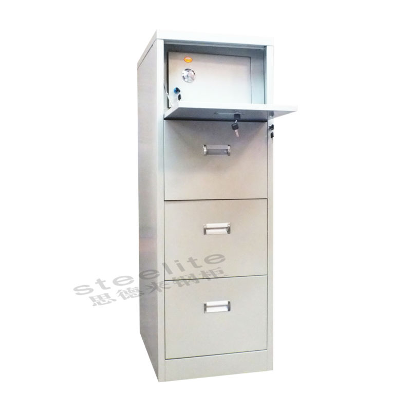 High Quality Office Furniture 4 Tier Metal File Cabinet With Safe ...