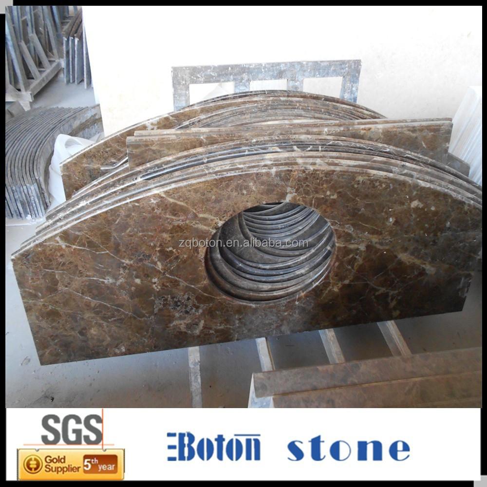 China fabriek directe verkoop bruin granieten toilettafel aanrecht ...