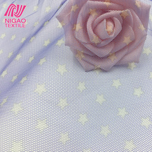 mesh fabric star pattern tulle 100 polyester printed fabric for dress fabric