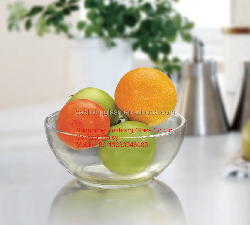 round borosilicate tempered glass mixing bowl 1.5L