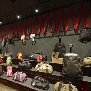fashion lady bags wall display for bags shop interior design