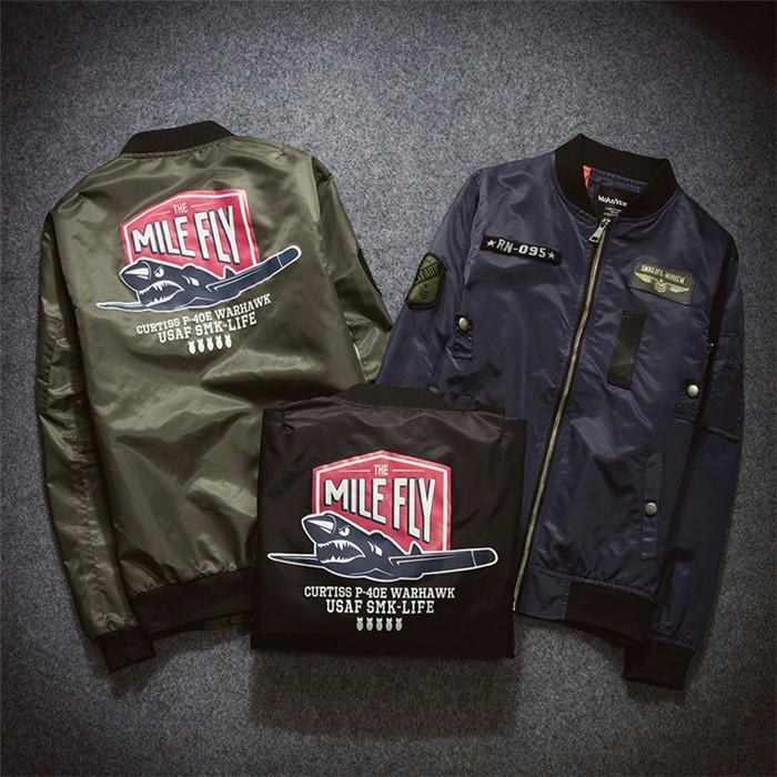 Fall 2016 Ma1 Army Green Motorcycle Flight Jacket Pilot