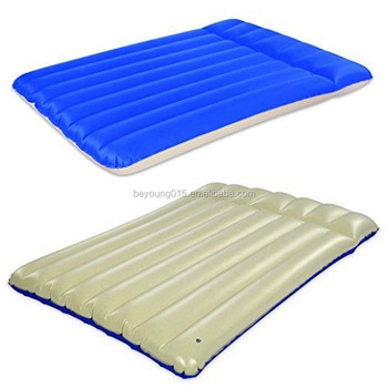 Camping Inflatable Below Up Cavas Feel Plastic Air Mattress Double