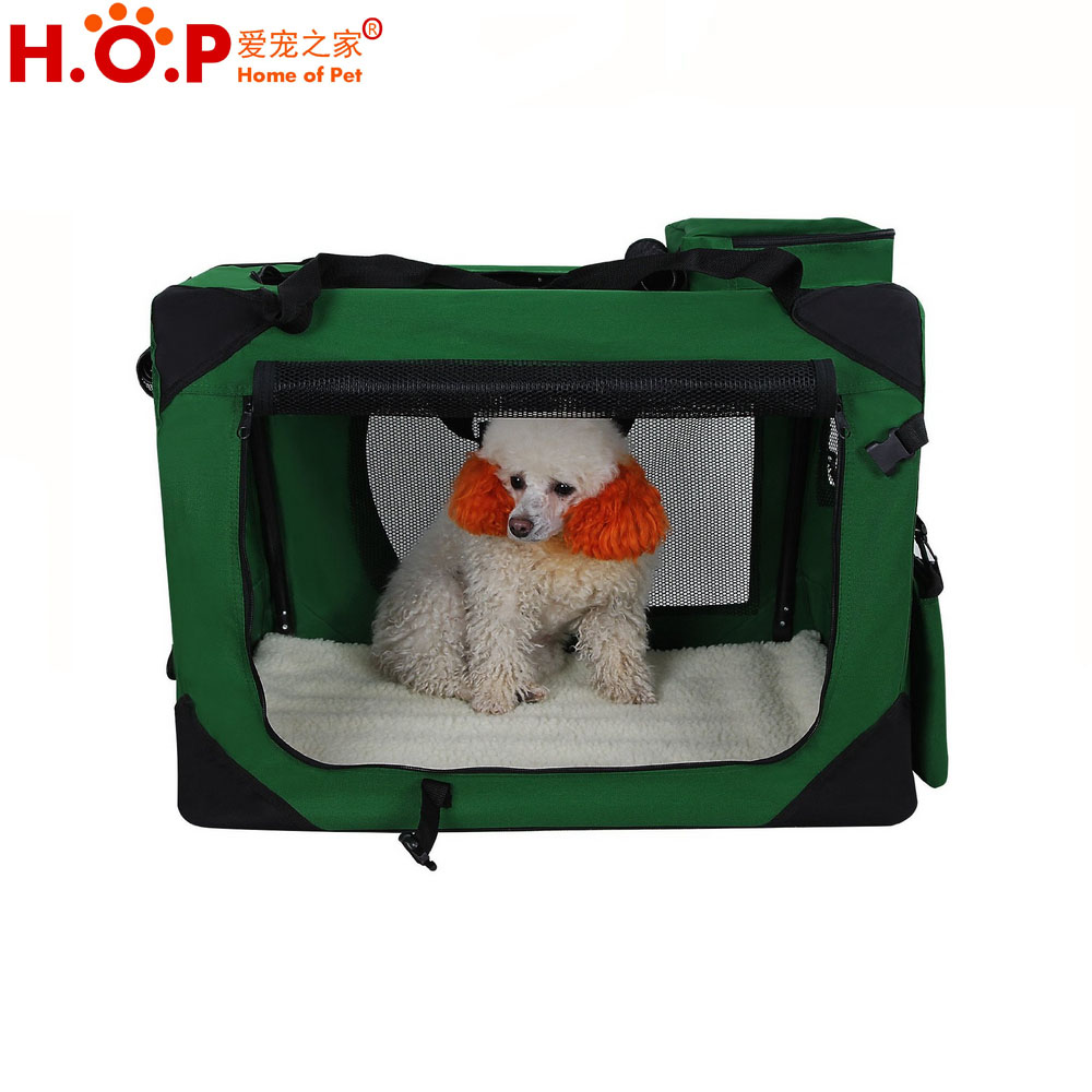 Green M size Custom Design Dog Carrier Airline Approved Pet Bag Carrier Rabbit Hutch