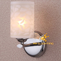 NA Rural style metal glass wall lamp vintage glass wall lighting