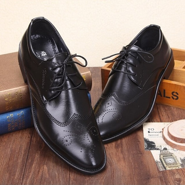 Whole Retail 2016 Office Men Dress Shoes Italian Wedding Man Casual Oxfords Suit Flats Leather Zapatos Hombre Hub