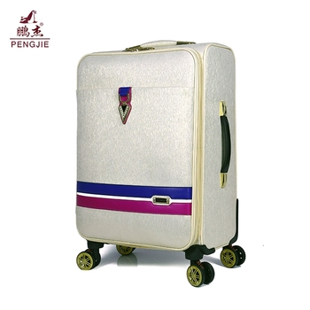 Wholesale promotional high quality pu vintage suitcase luggage bag